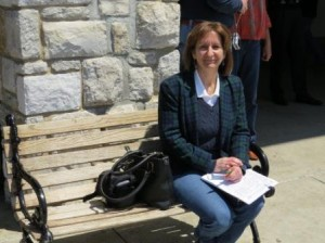 Deb at Keeneland