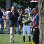 Tom Morley and Rosie Napravnik at Saratoga