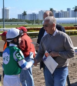 Dylan Davis and Todd Pletcher