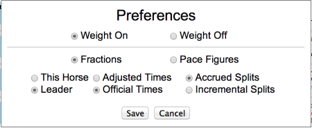 Weight Preferences