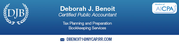 This Website Sponsored By Deborah Benoit, CPA.