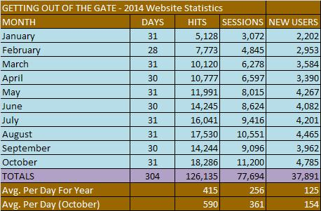 Website Statistics 2014 (Through October)
