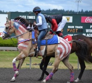 Emerald Downs RWB Horse